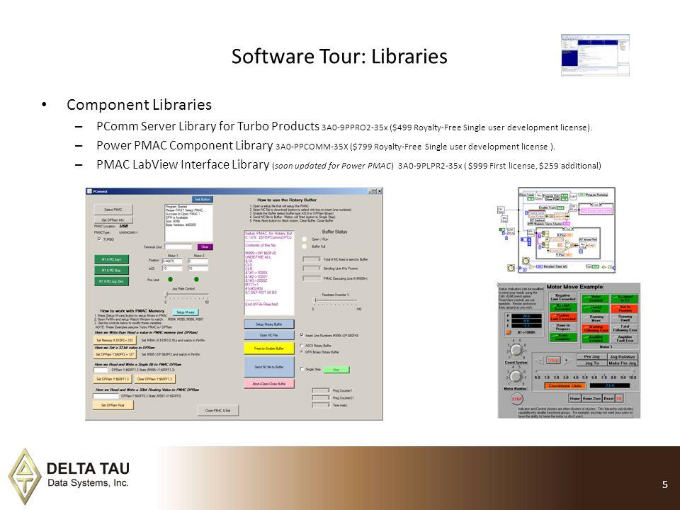 Software Tour: Servo Analyzer Servo Analyzer 3A0-PMSRVA-35X ($1795) Power PMAC or Turbo PMAC supported.