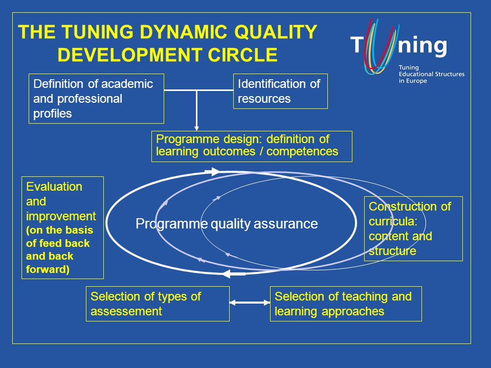 Management Committee THE TUNING DYNAMIC QUALITY DEVELOPMENT CIRCLE Definition of academic and professional profiles Programme design: definition of le
