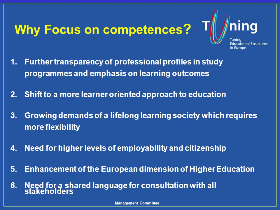 Management Committee Fundamental Importance: Weighted Ranking of the Most Importance Competences.