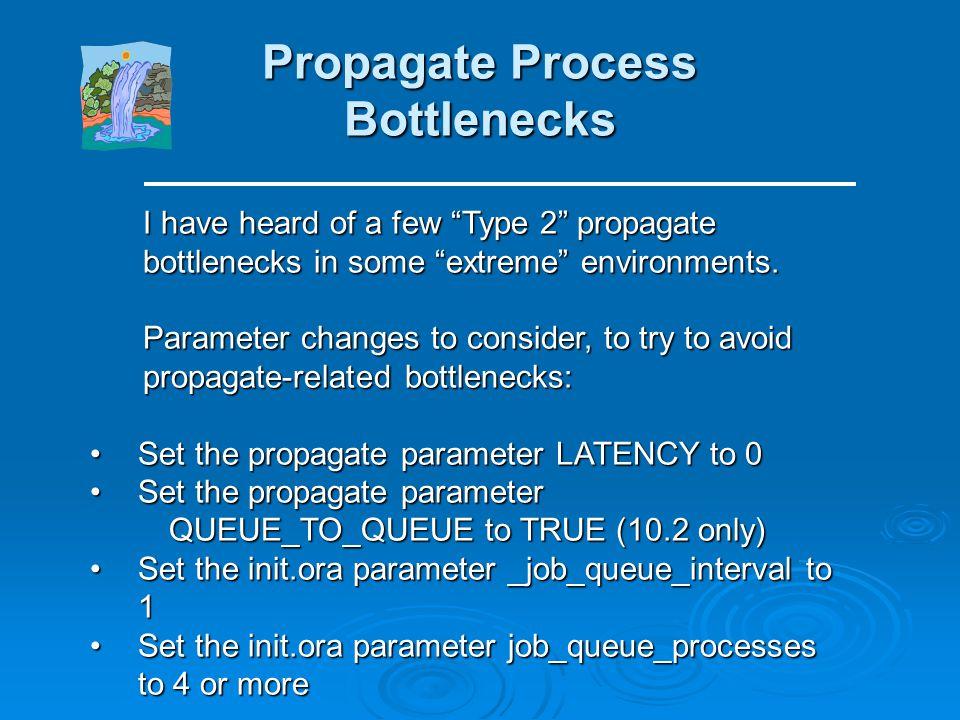 Capture Process Bottlenecks Flow Control Capture Process Bottlenecks Flow Control In 10g, the capture process is configured with In 10g, the capture p