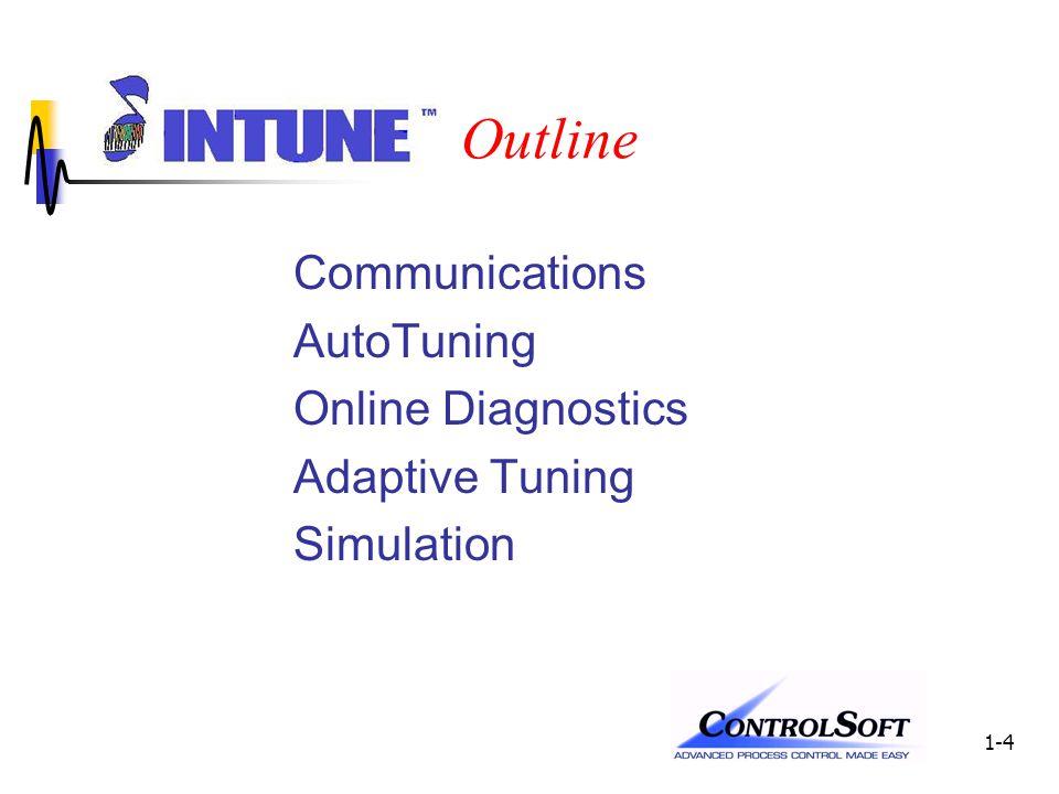 1-4 Outline Communications AutoTuning Online Diagnostics Adaptive Tuning Simulation