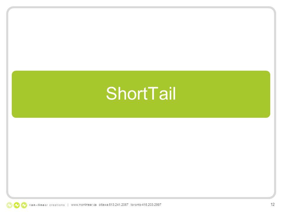 ShortTail | www.nonlinear.ca ottawa 613.241.2067 toronto 416.203.2997 12