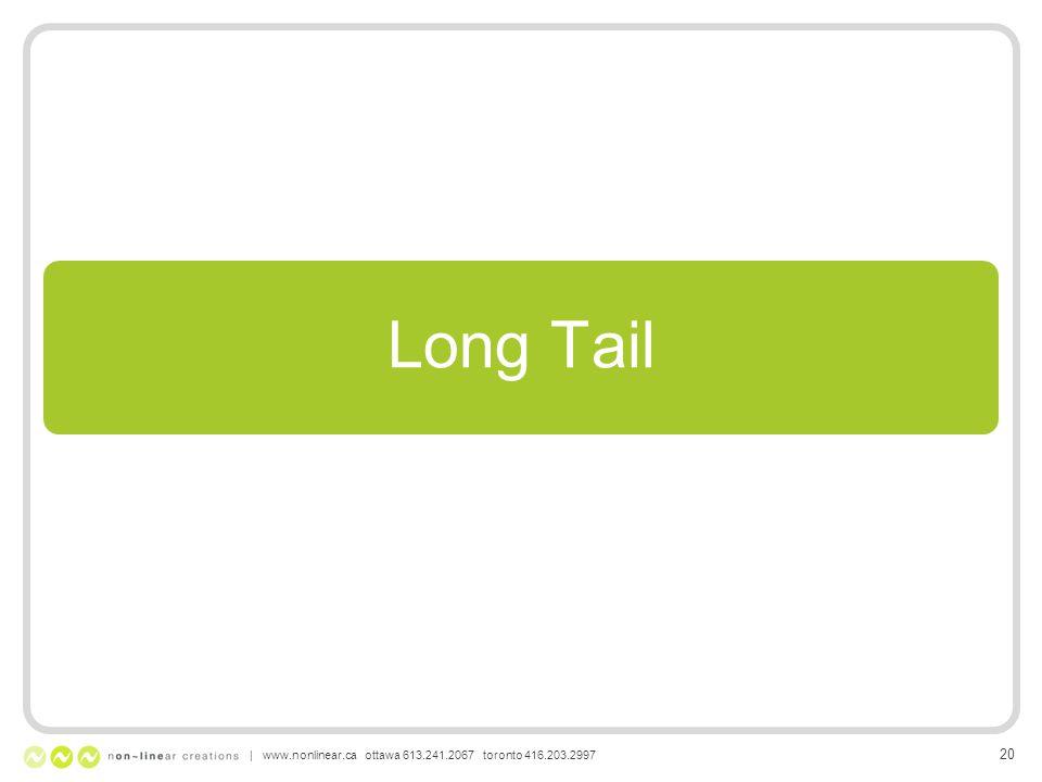 Long Tail | www.nonlinear.ca ottawa 613.241.2067 toronto 416.203.2997 20
