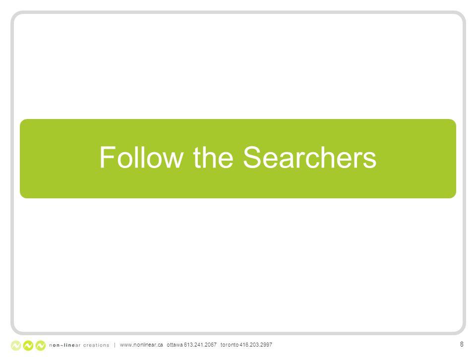 Follow the Searchers | www.nonlinear.ca ottawa 613.241.2067 toronto 416.203.2997 8