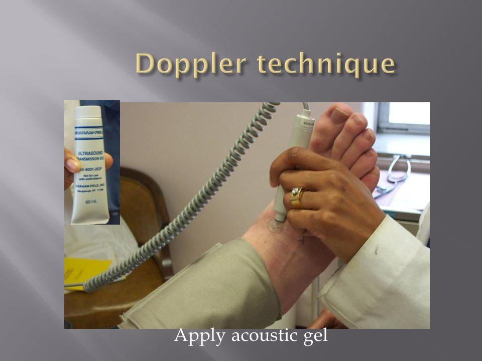 Apply acoustic gel