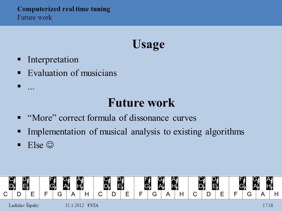Usage Interpretation Evaluation of musicians...