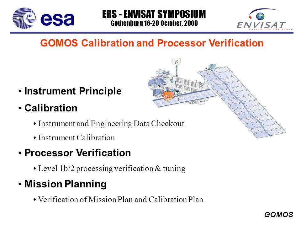 ERS - ENVISAT SYMPOSIUM Gothenburg 16-20 October, 2000 GOMOS