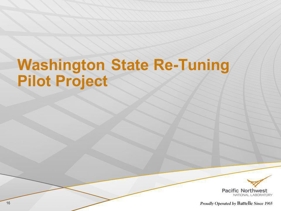 Washington State Re-Tuning Pilot Project 16