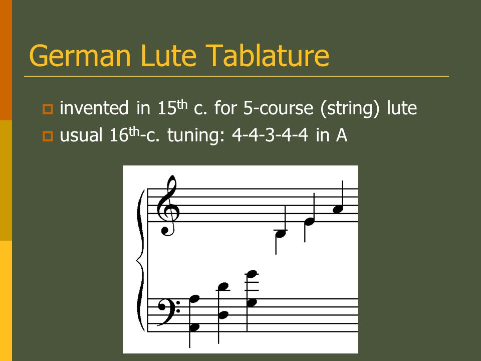 French Lute Tablature