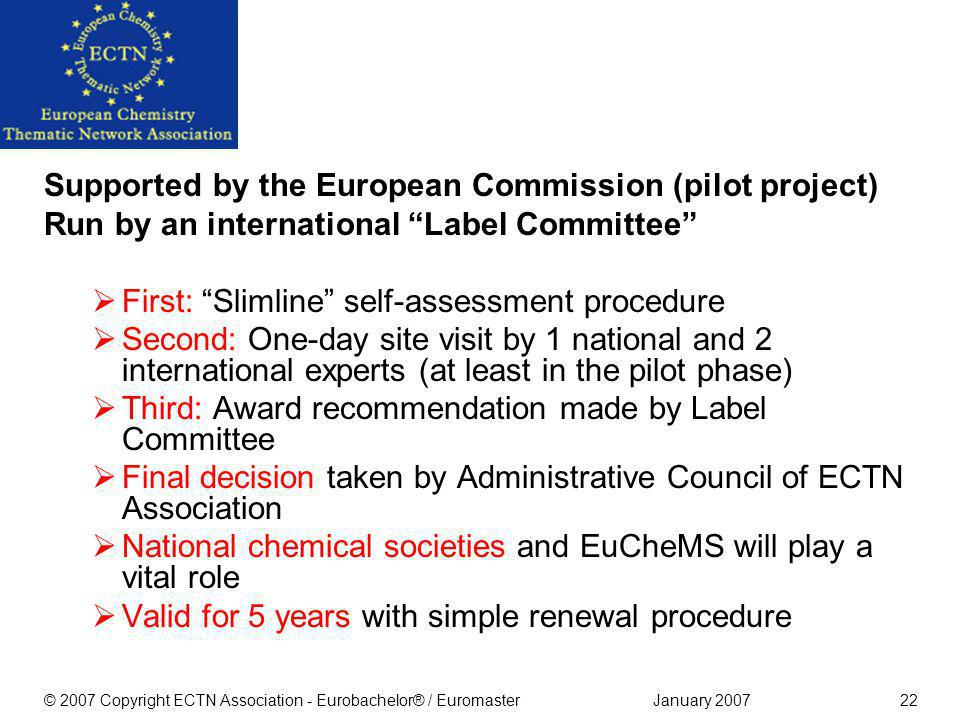 Quality Assurance: the Eurobachelor® Label