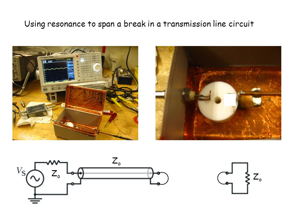 ZoZo ZoZo ZoZo Using resonance to span a break in a transmission line circuit