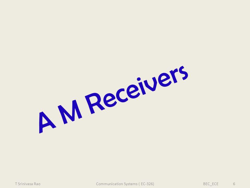A M Receivers T Srinivasa RaoBEC_ECE 6Communication Systems ( EC-326)