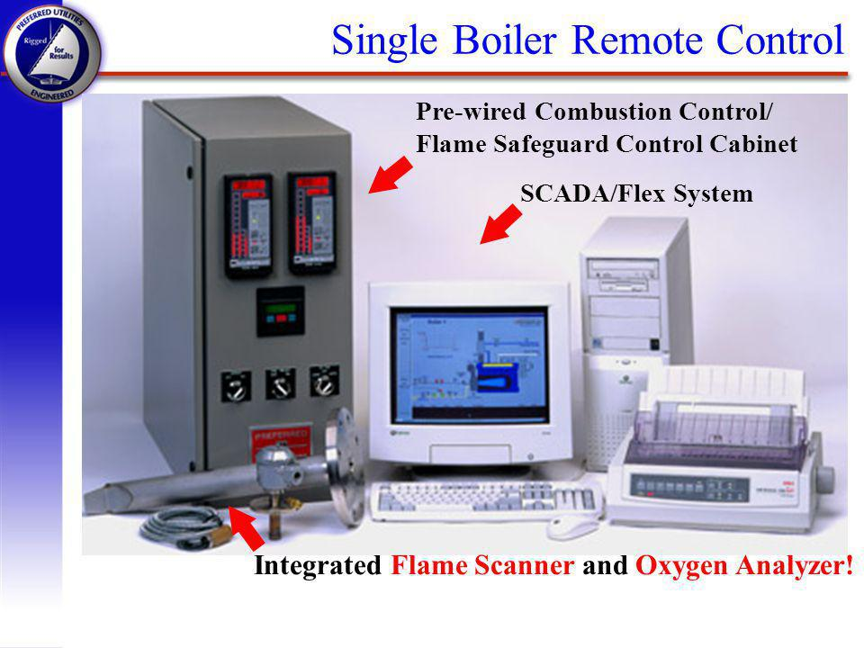 Pre-wired Combustion Control/ Flame Safeguard Control Cabinet SCADA/Flex System Integrated Flame Scanner and Oxygen Analyzer.