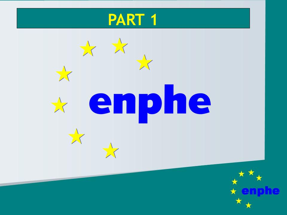 European Network of Physiotherapy in Higher Education Aim: bring together physiotherapy educational institutions in the European region for: 1.Interaction and exchange of educational developments 2.Convergence of PT educational programmes 3.Development of a European dimension in PT curricula 4.Facilitate mobility of staff and students 5.Standards of high quality PT education in accordance with the recommendations of WCPT 6.Advance the body of knowledge of physiotherapy 7.Collaborative research projects between PT institutions 8.Exchange information with other national and international bodies, organisations, and with the European authorities
