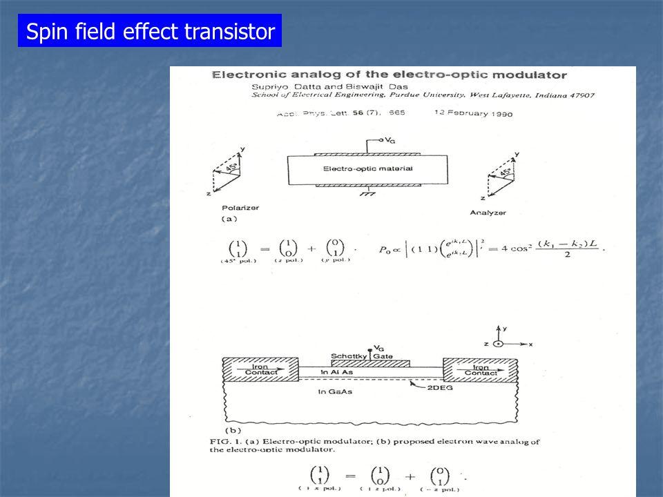 Spin field effect transistor