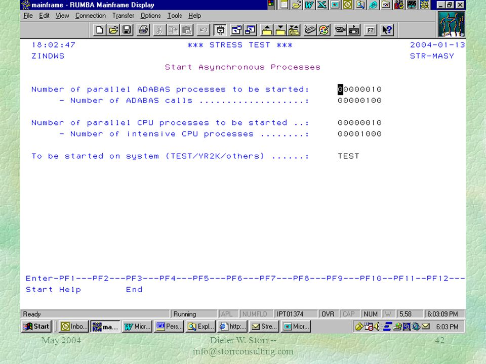 May 2004Dieter W. Storr -- info@storrconsulting.com 41