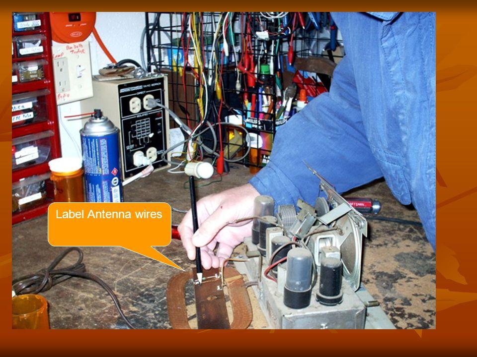 Label Antenna wires