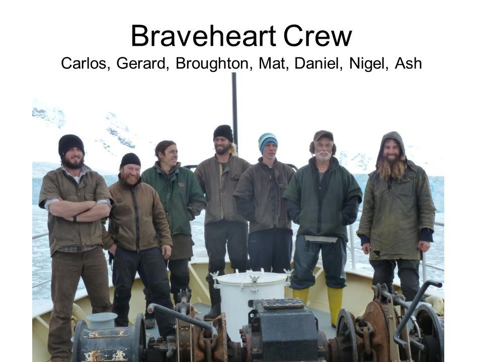 Braveheart Crew Carlos, Gerard, Broughton, Mat, Daniel, Nigel, Ash