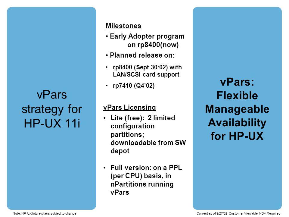 HP-UX Rev X Dept.A App 1 HP-UX Rev Y Dept.B App 1 HP-UX Rev X Dept.