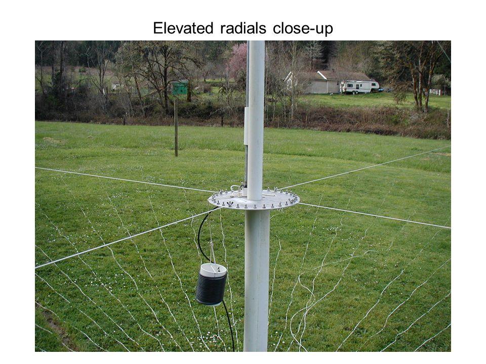 Elevated radials close-up