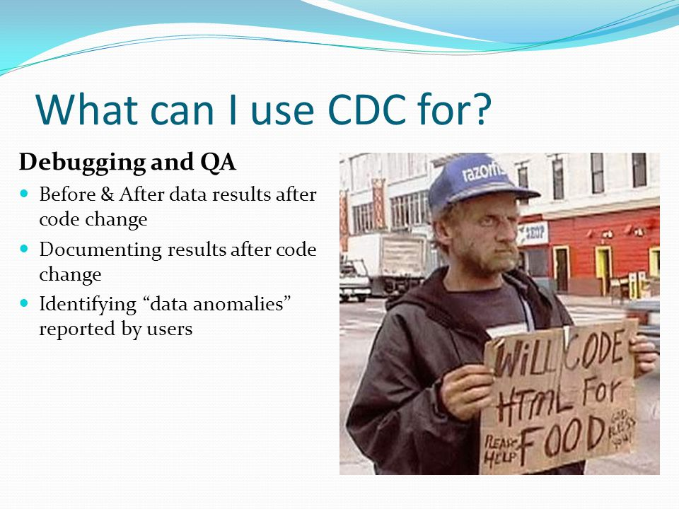 What can I use CDC for.