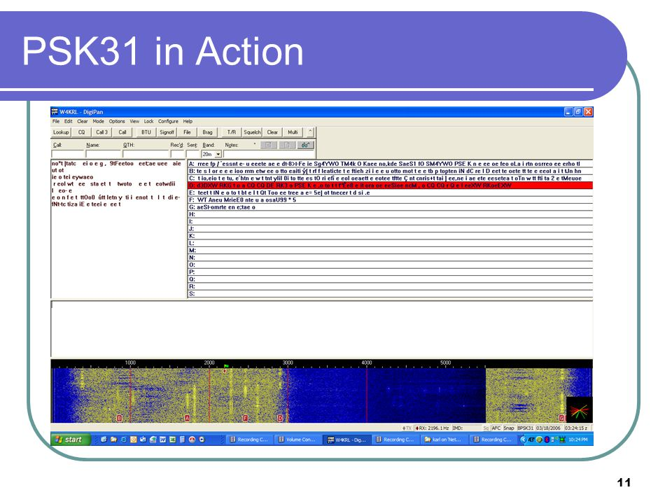 11 PSK31 in Action