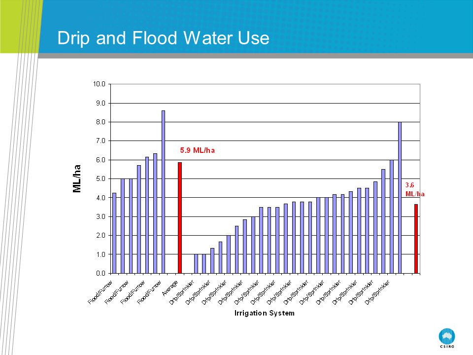 Drip and Flood Water Use