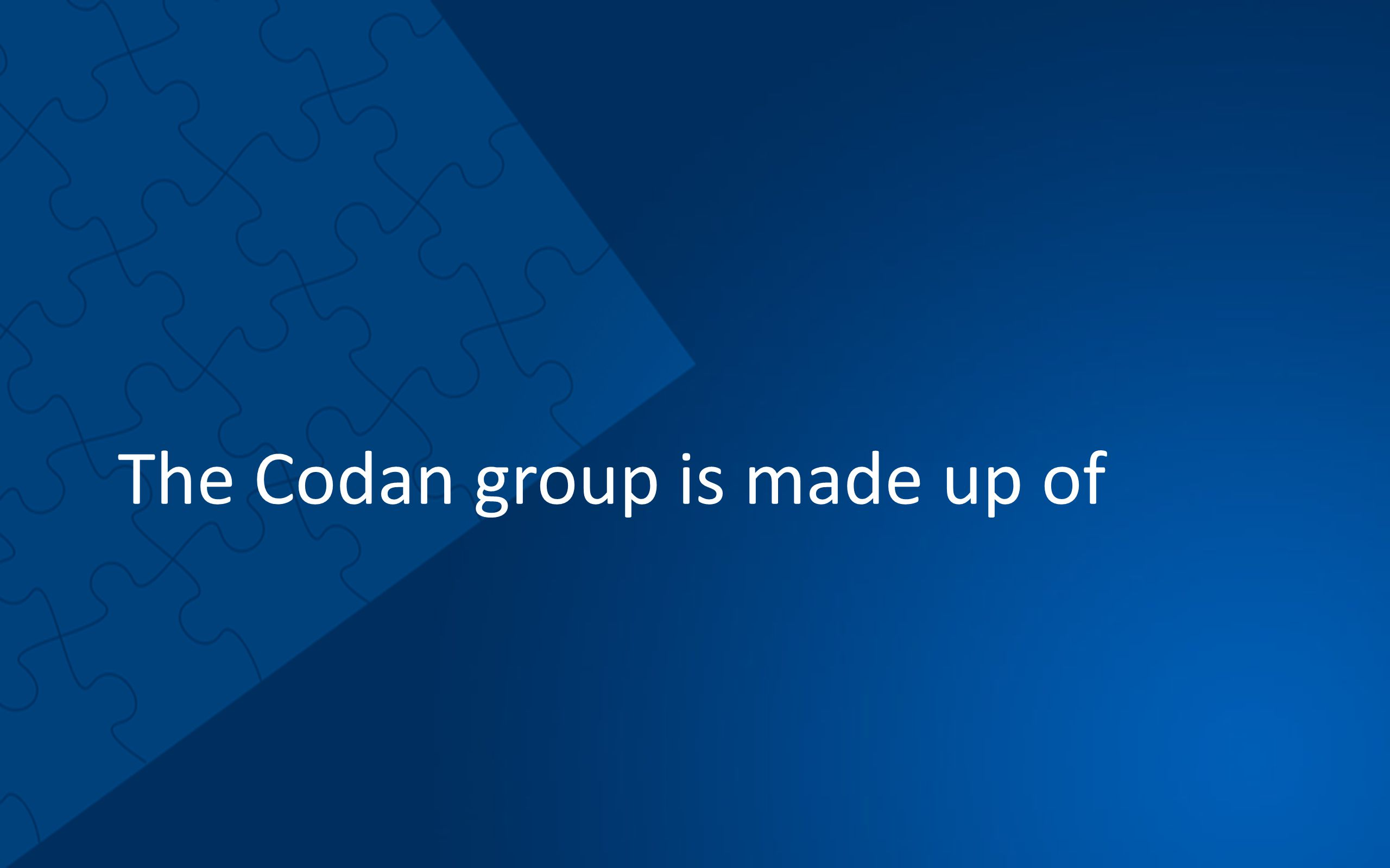 The Codan group is made up of