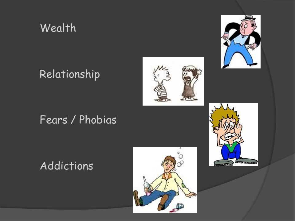 Wealth Relationship Fears / Phobias Addictions