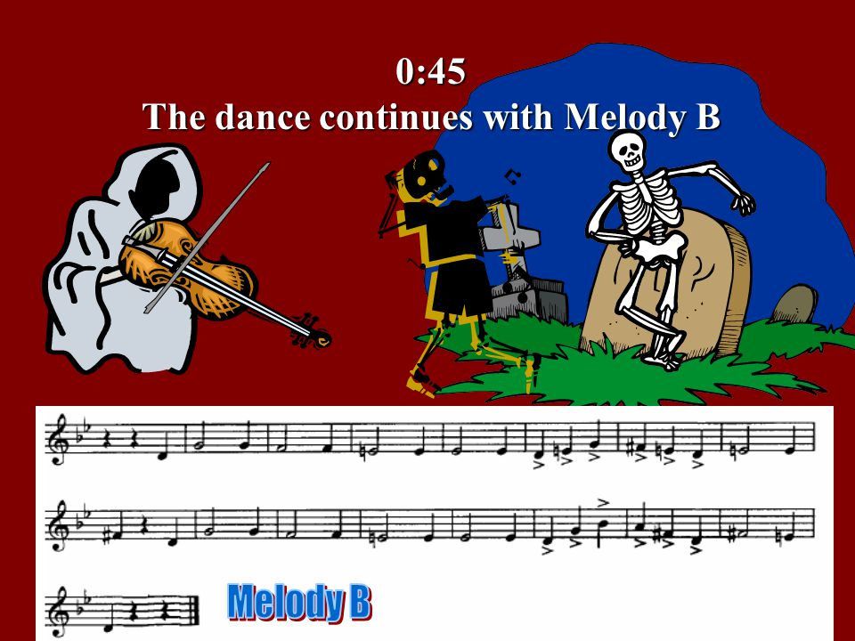 0:45 The dance continues with Melody B