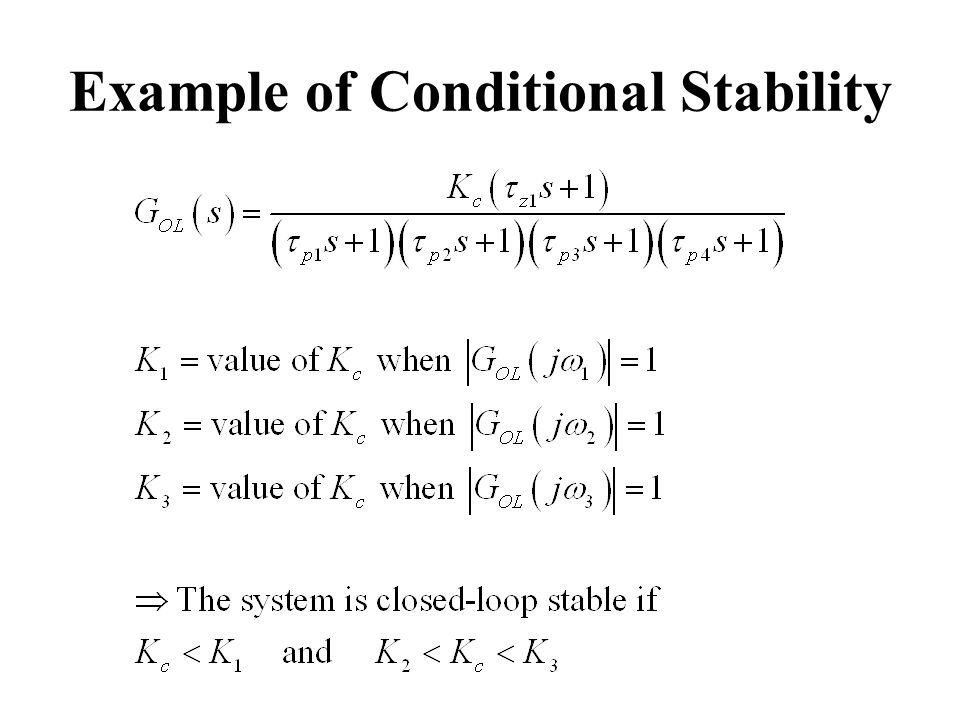 Example of Conditional Stability