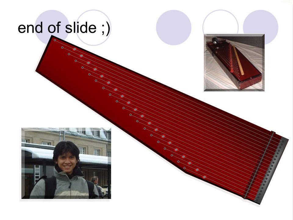 end of slide ;)