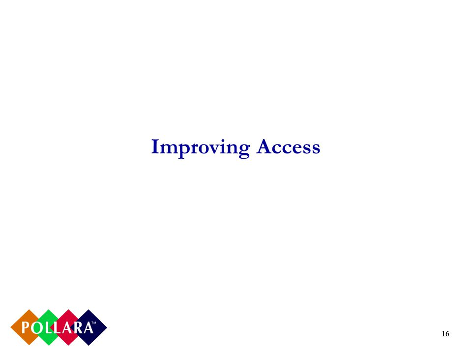 16 Improving Access