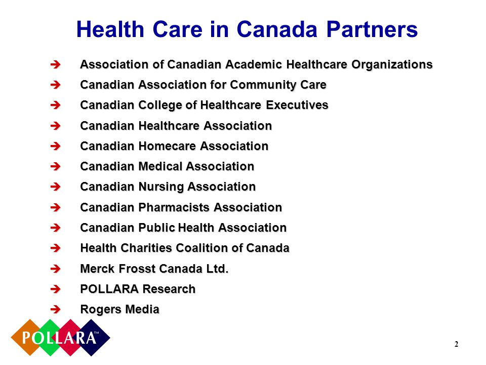 3 Table of Contents Methodology Overview of the Health Care System Views on the September 2004 Federal-Provincial Health Care Deal Improving Access Promoting and Protecting Health Supporting Innovation Increasing Accountability Conclusions