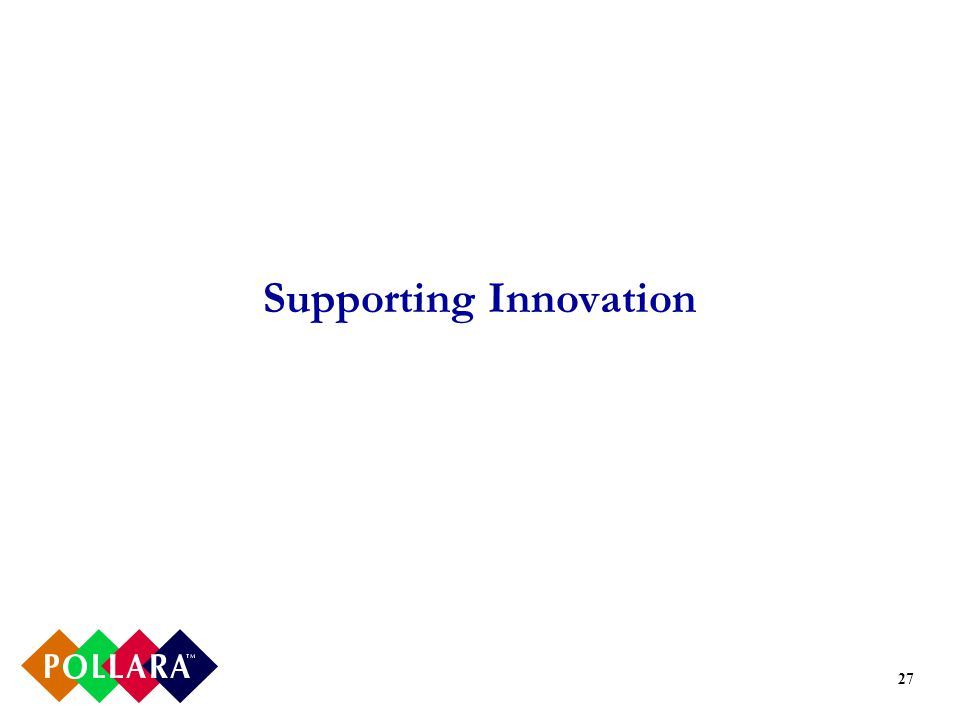27 Supporting Innovation