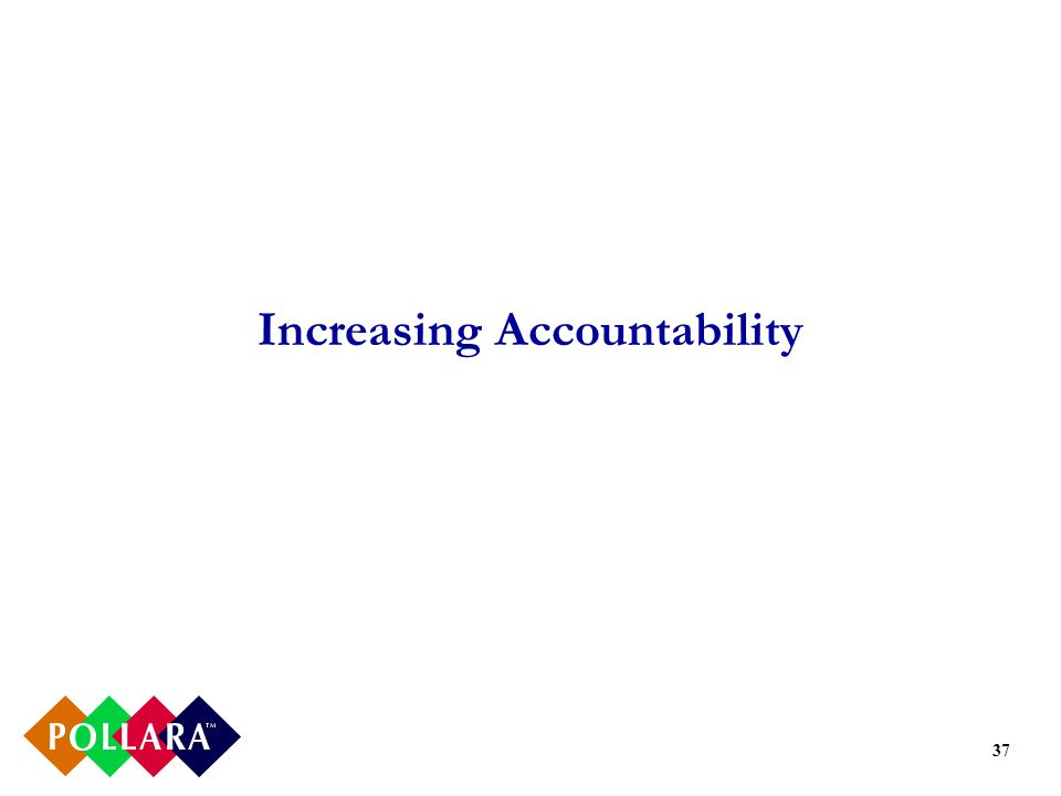 37 Increasing Accountability