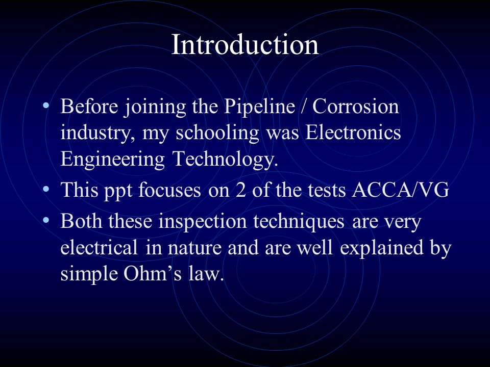 ACCA Introduction AC Current Attenuation Sometimes called the EM method BUT it doesnt do anything really tricky with electromagnetics.
