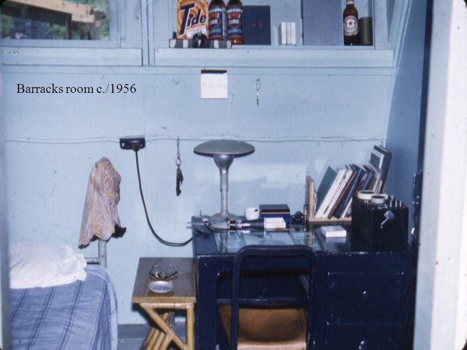 Barracks room c./1956