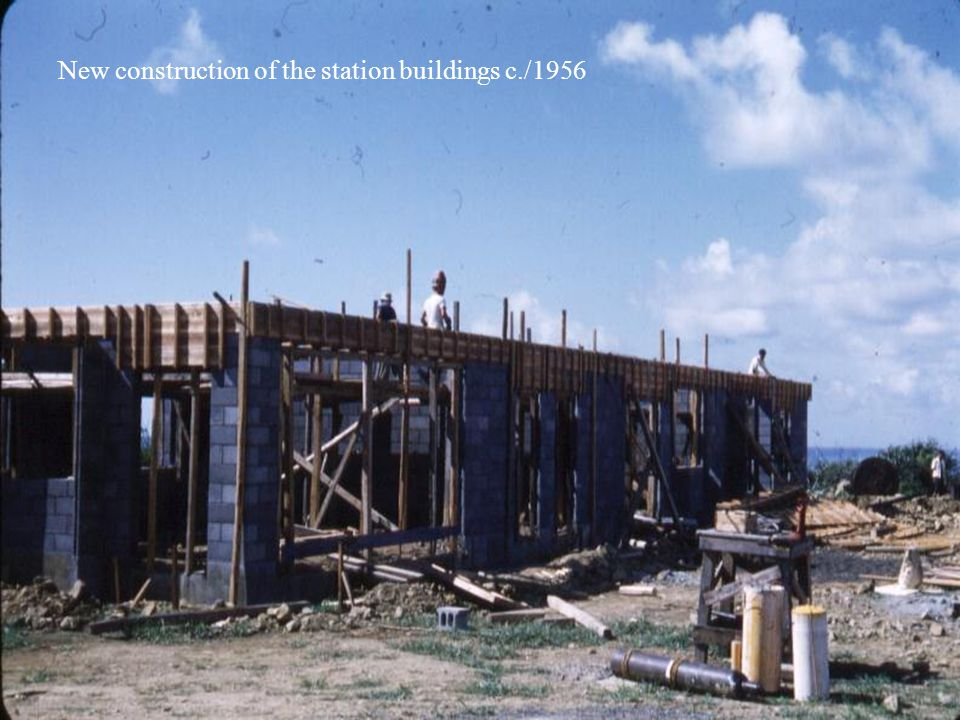 New construction of the station buildings c./1956