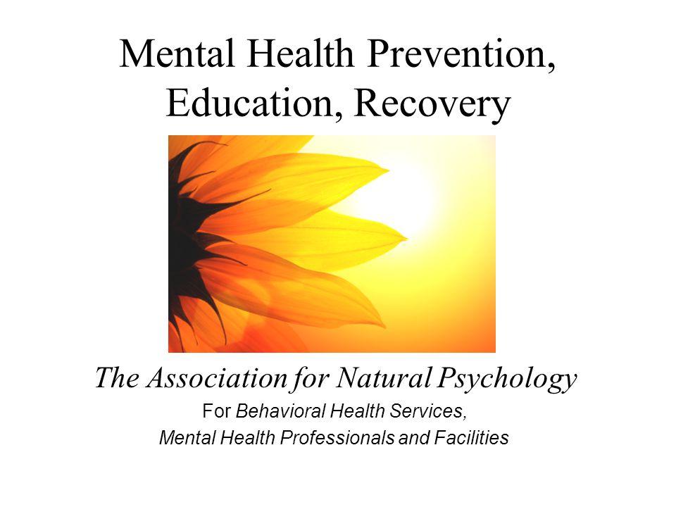Mental Health America, a mainstream U.S.