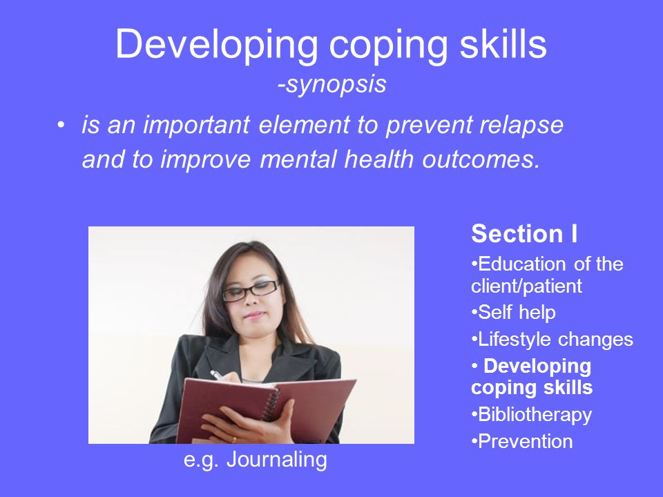 Coaching for Bipolar Disorder I see it as my job to help balance the individual and encourage him to change some of his habits.
