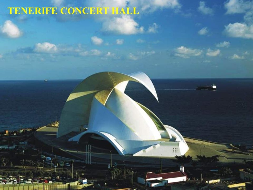 A wonder of technology out of concrete and stones House of the symphony orchestra of Tenerife
