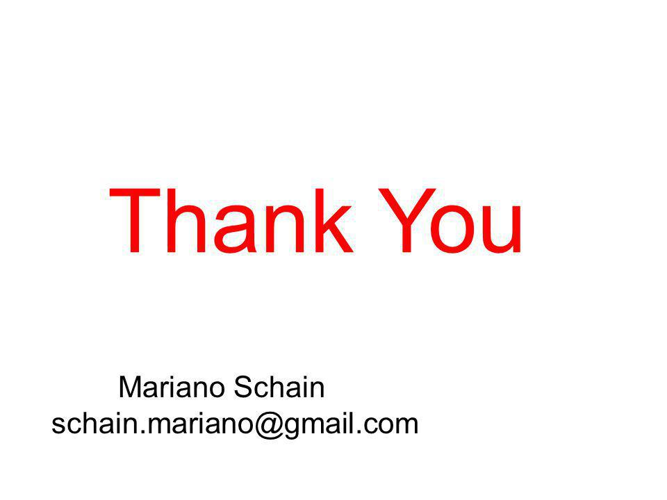 Mariano Schain Thank You