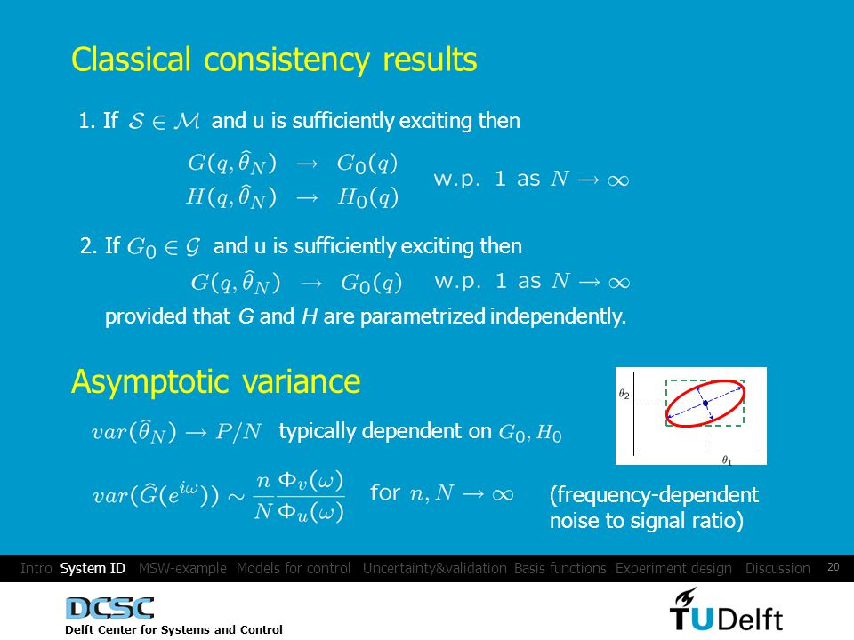 Delft Center for Systems and Control 20 Classical consistency results 1.