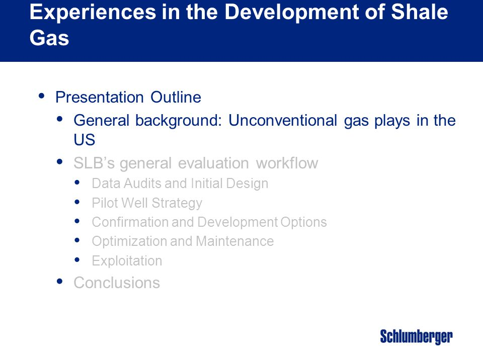 Unconventional Gas Conference & Exhibition Stephen A.