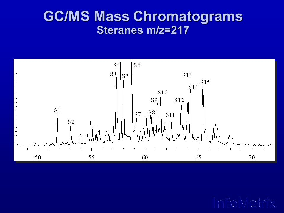 InfoMetrix GC/MS Mass Chromatograms Steranes m/z=217