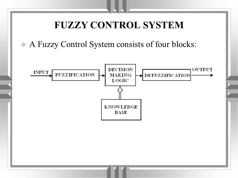 u The reason for using the fuzzy software development system described in the foregoing is to tune the initial fuzzy design.