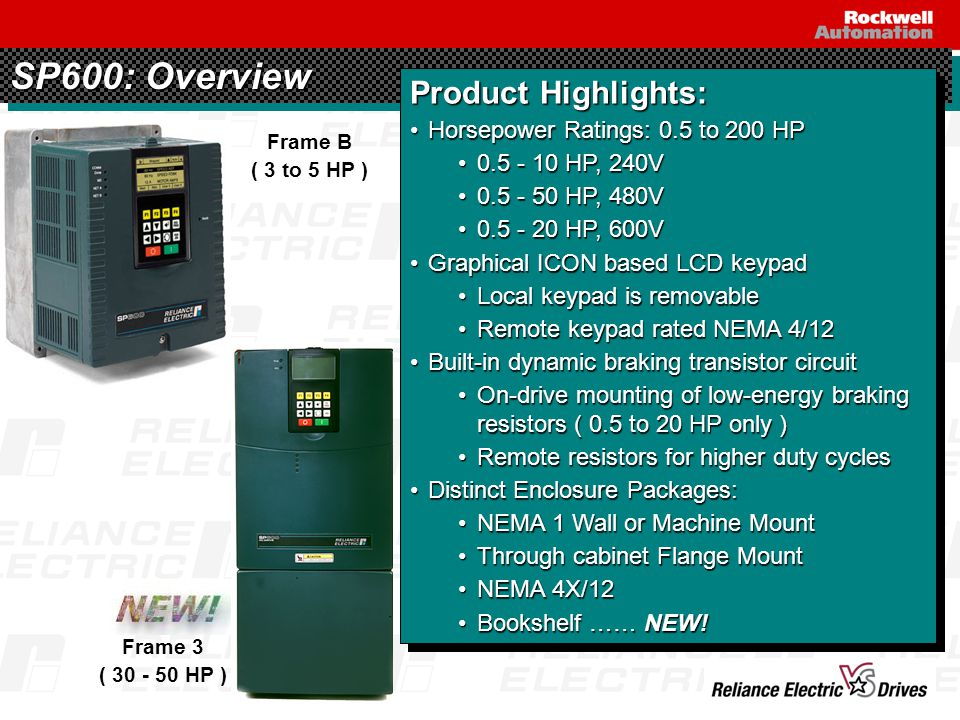 MOP Speed Control & Vertical Scroll Keys Horizontal Scroll Keys Stop Key & Fault Reset Enter Key Forward / Reverse Operation Escape / Program Start Operation Jog Operation Configurable Function Keys SP600: LCD OIM - Local & Remote models