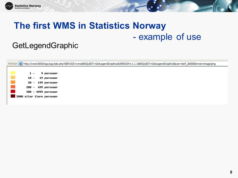 9 GetFeatureInfo The first WMS in Statistics Norway - example of use