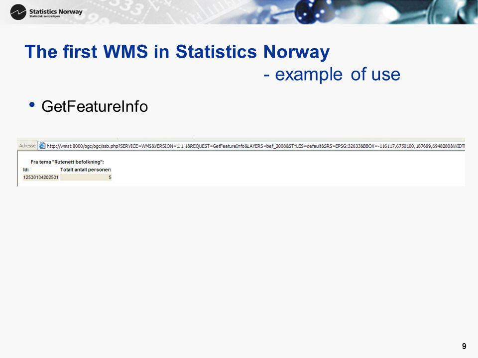 10 The first WMS in Statistics Norway - the WMS called from a uDIG Application